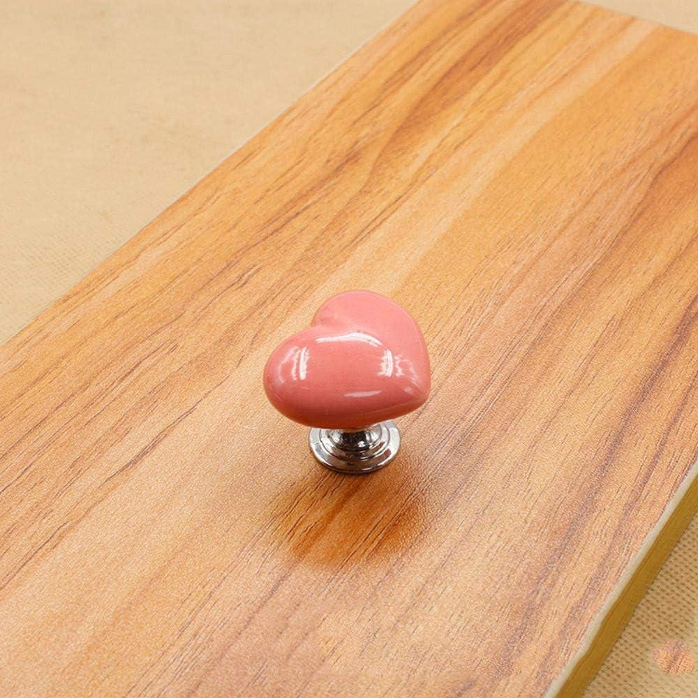 Defect Manija de Puerta Metal de Agujero cerámica en Forma de Amor de guardarropa Moderno Simple cajón Puerta del Mueble Muebles Color Mango: Amazon.es: Hogar