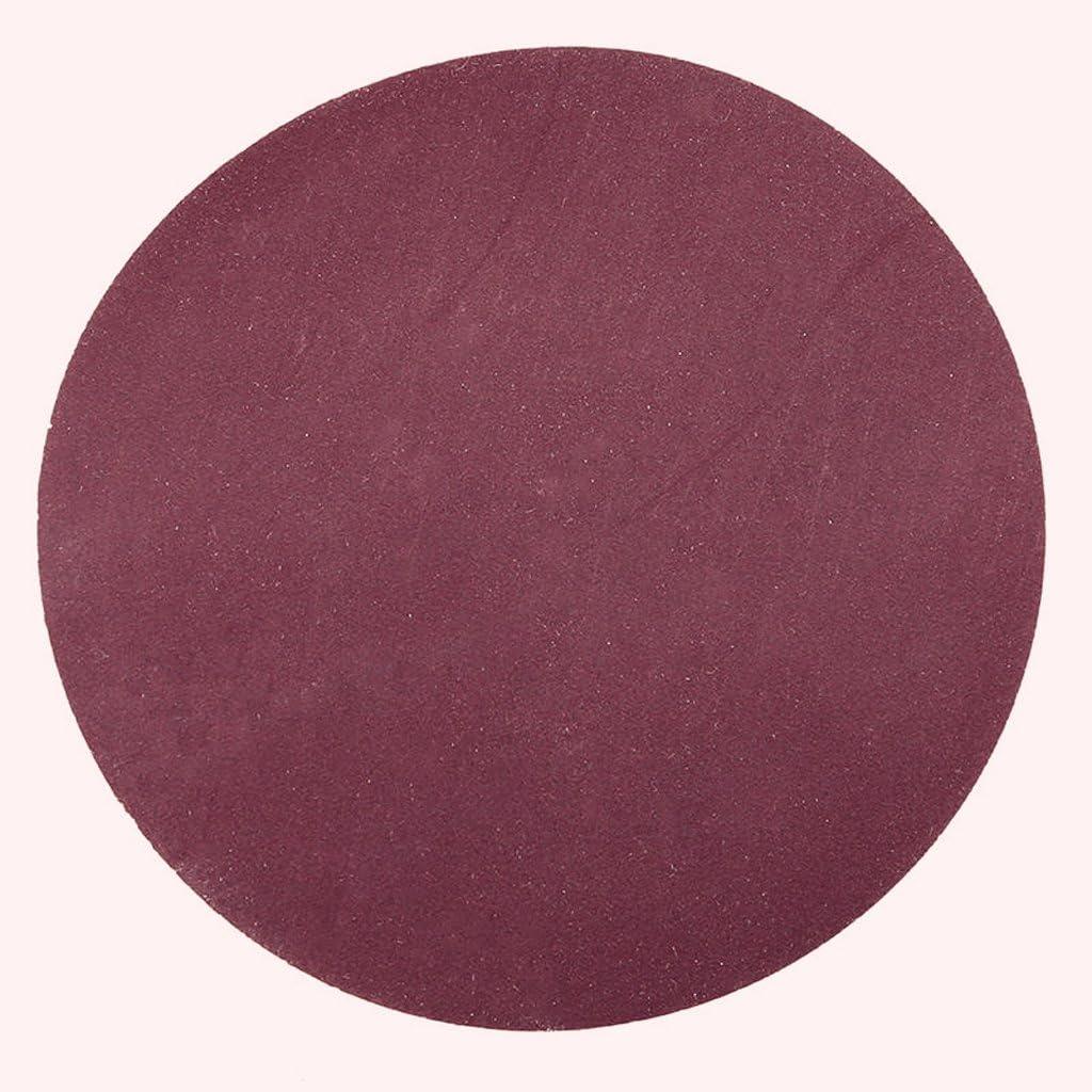 B 7.5CM C F Fityle 40 Pcs Disque de Pon/çage Papier de Verre /à Fixation en Nylonpour Ponceuse Excentrique 7.5