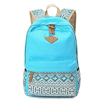 Geometría Casual lona portátil bolso escolar mochila ligera mochilas para niñas adolescentes: Amazon.es: Equipaje