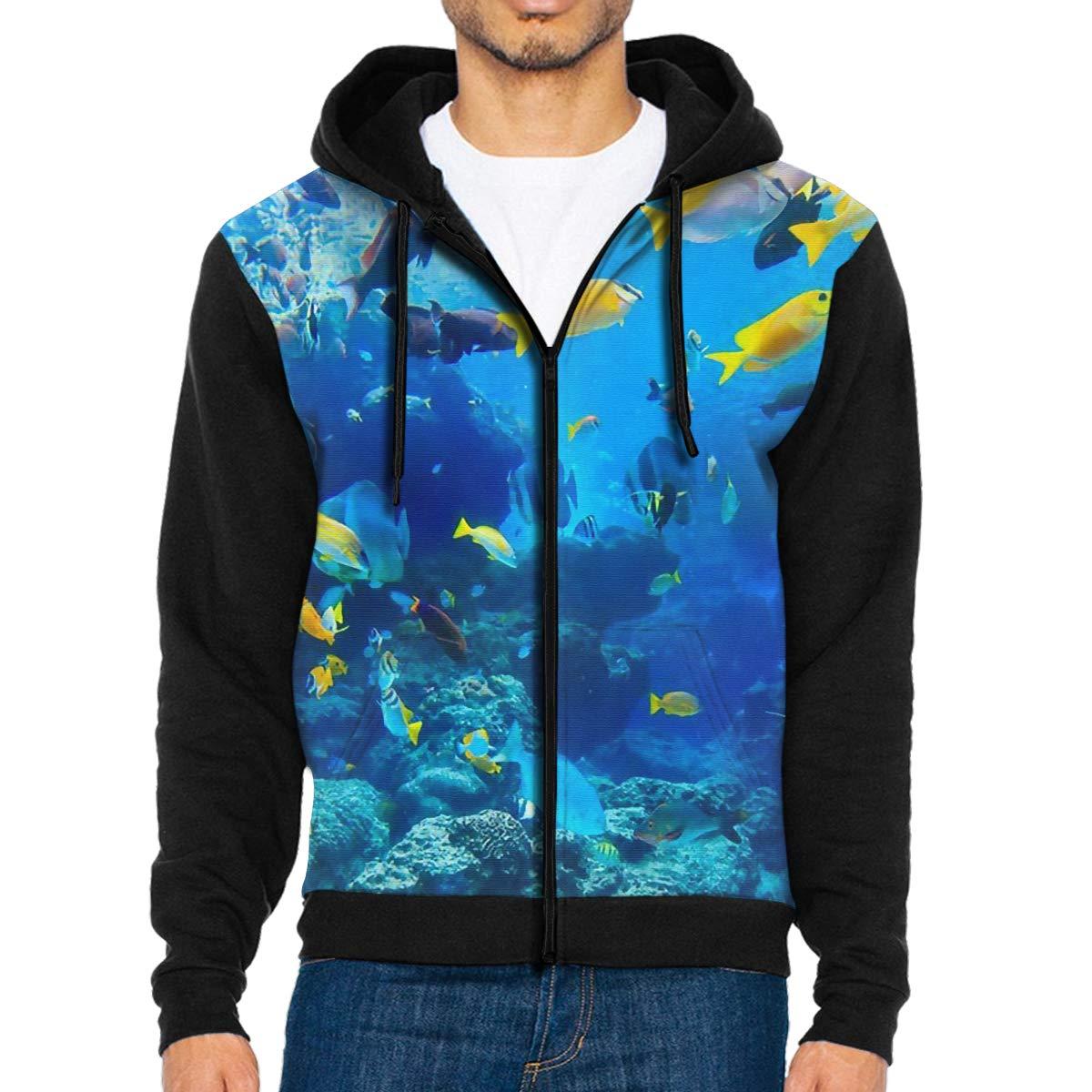 f4066a33 Amazon.com: LEATHERS Man's Casual Garb Hoodies Blue Coral Zipper Hoodie Men  Sweatshirt: Clothing