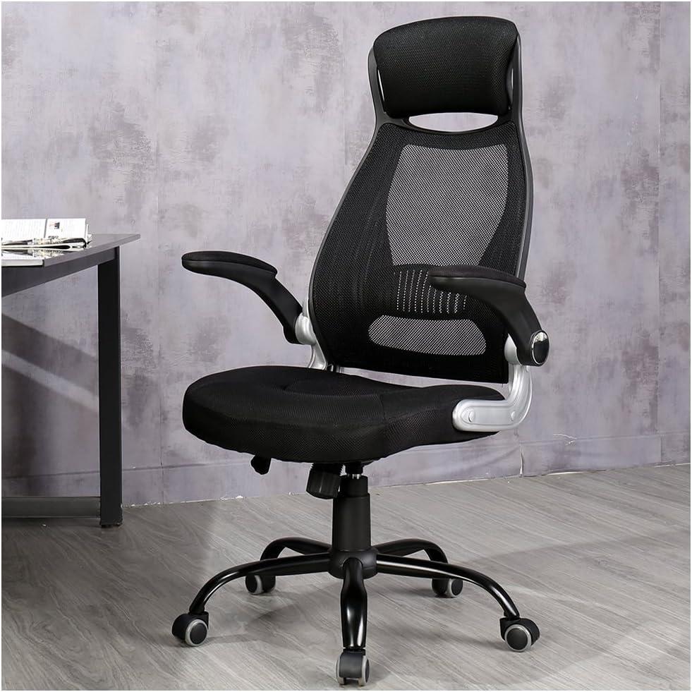 Veigar Ergonomic High Back Mesh Office Chair with Adjustable Armrest Computer Chair Desk Chair Task Chair Swivel Chair Black