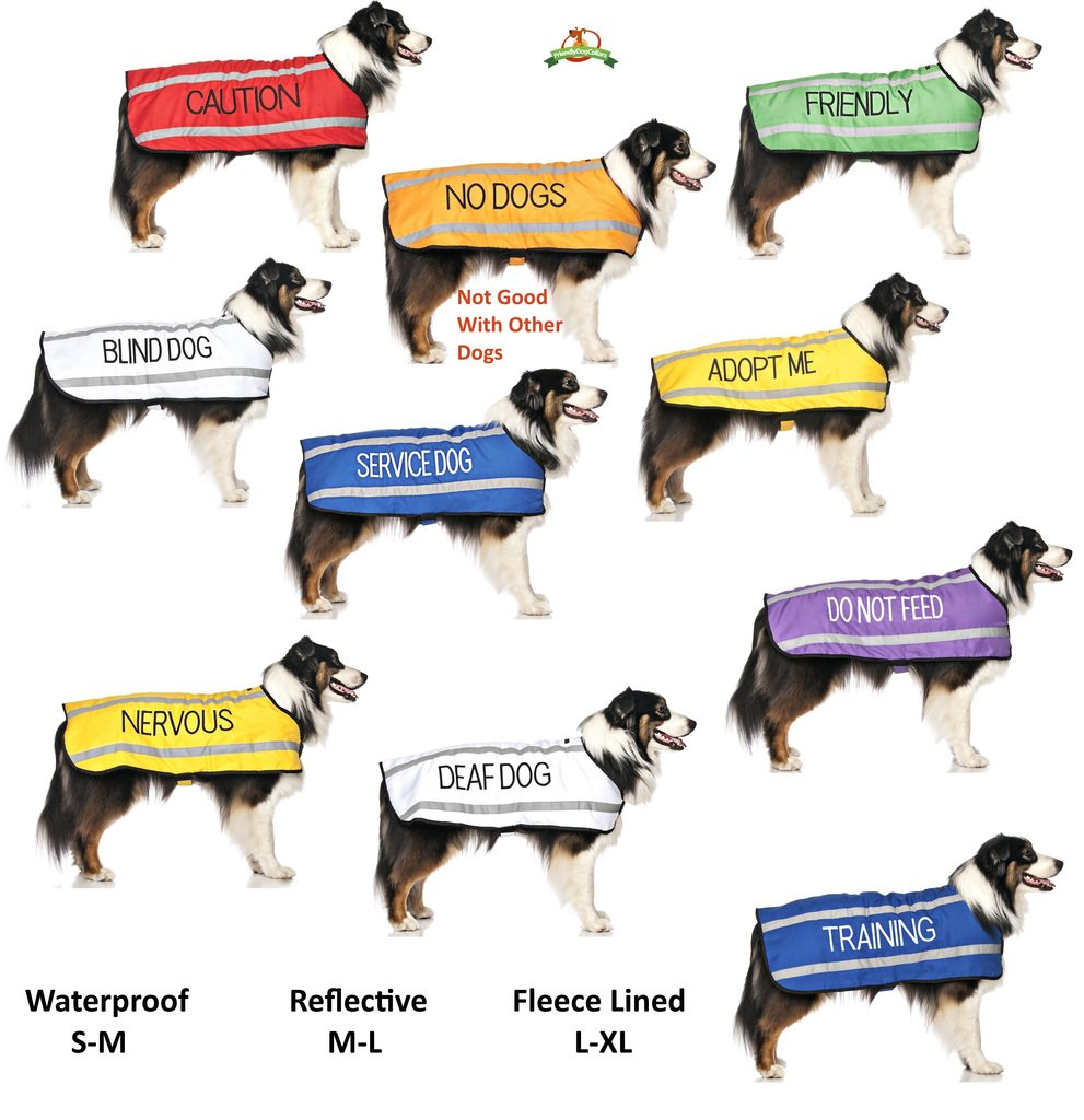 Give Me Space NERVOUS Yellow Colour Coded S-M L-XL Dog Collars PREVENTS Accidents By Warning Others Of Your Dog In Advance S-M