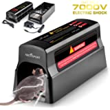 Electronic Humane Rodent Zapper - Effective Mouse Trap Killer for Rats, Mice, Squirrels – No Poison Use - 7000v Shock Instant Exterminator – Safe, Mess-Free & Non-Toxic That Works {New & Upgraded}