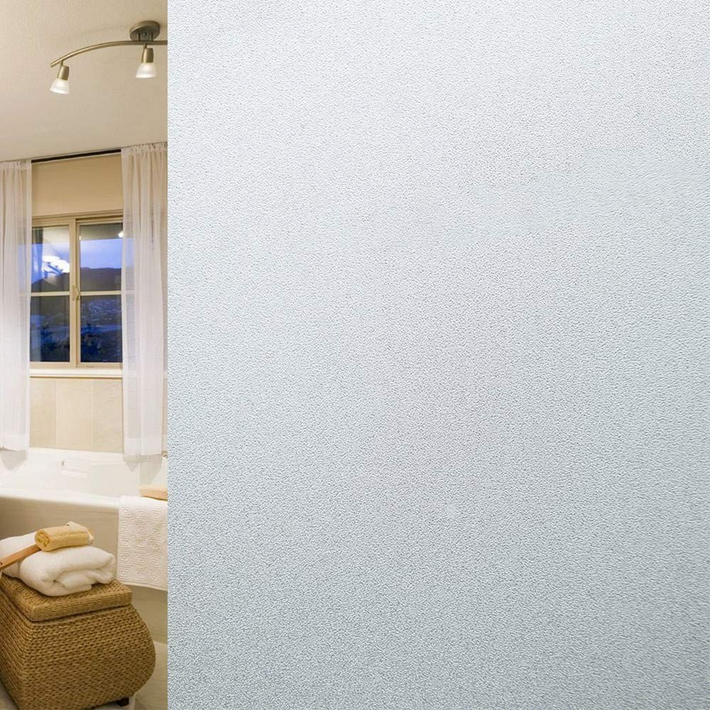 Amageek Frosted Privacy Window Film Self Adhesive Window Contact Paper Decorative Privacy Glass Film for Bathroom/Office/Home Window 45CM by 200CM