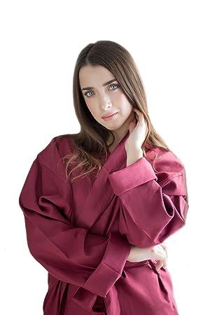 enetal Natural & rizo Waren Mujer Hombre Mañana Abrigos tejido de algodón ecológico Albornoz 215 gr