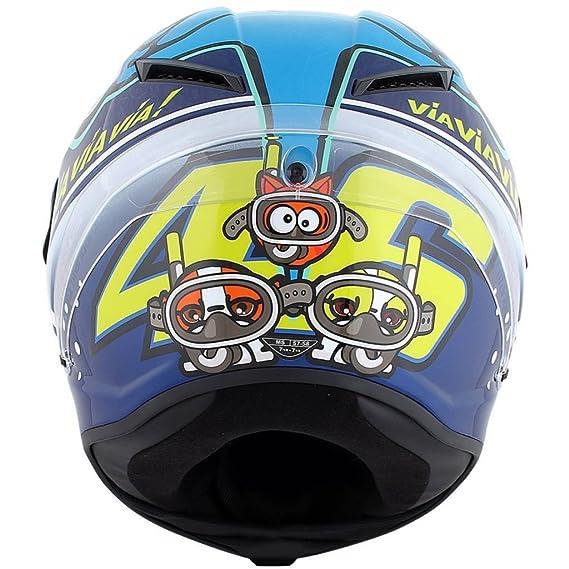 Amazon.es: AGV Corsa Valentino Rossi VR46 edición limitada Misano 2015 Tiburón casco XS
