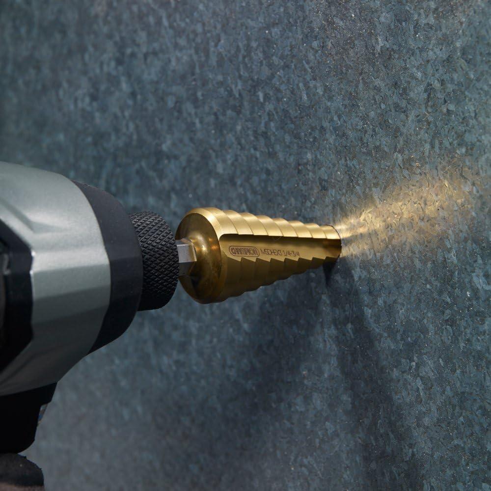 Champion Cutting Tool Titanium Impact Ready Step Drill Bit 1//4-3//4 MSD-HEX-3