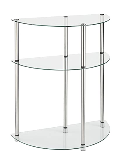 Convenience Concepts Designs2Go 3 Tier Glass Entryway Table, Glass