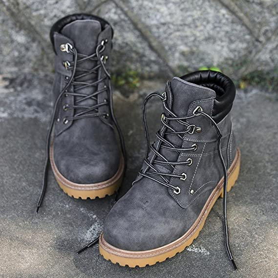 Amlaiworld Zapatos de hombre Botas de otoño invierno de hombre ...