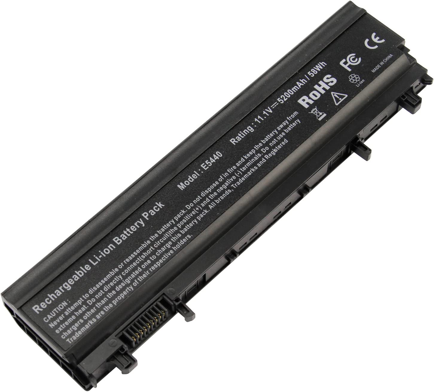 ARyee E5440 Battery Compatible with Dell Latitude E5440 E5540 Series, fit N5YH9 WGCW6 1N9C0 F49WX 0M7T5F(5200mAh 11.1V)