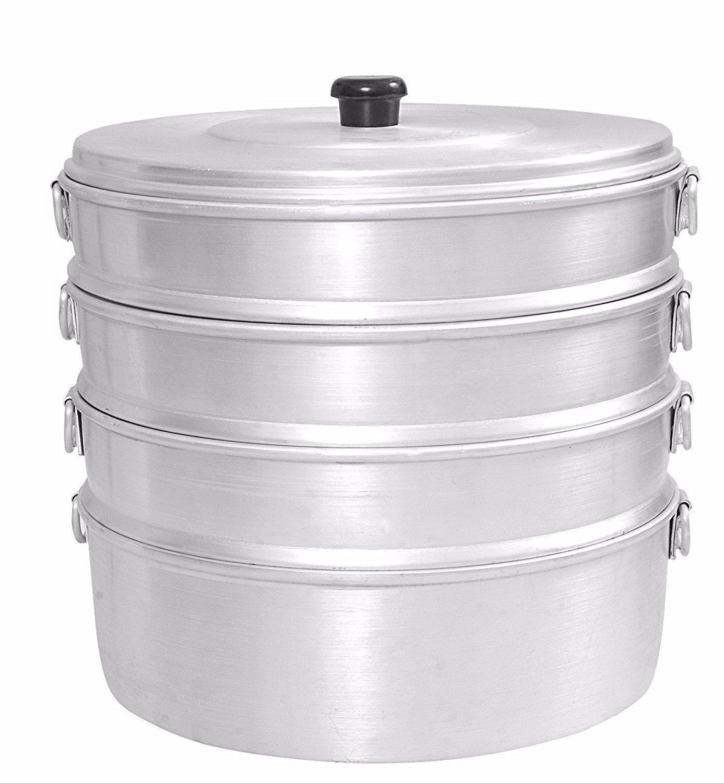 Aluminium Momos Steamer 8'' With 4 Tier Water Capacity 2.3 Liters