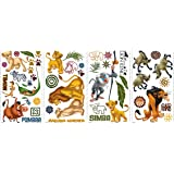 RoomMates The Lion King Peel and Stick Wall Decal, Multicolour