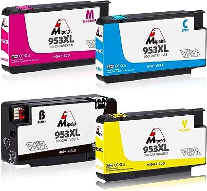 Mipelo 953 XL Alta capacidad Cartucho de Tinta Reemplazo para HP ...