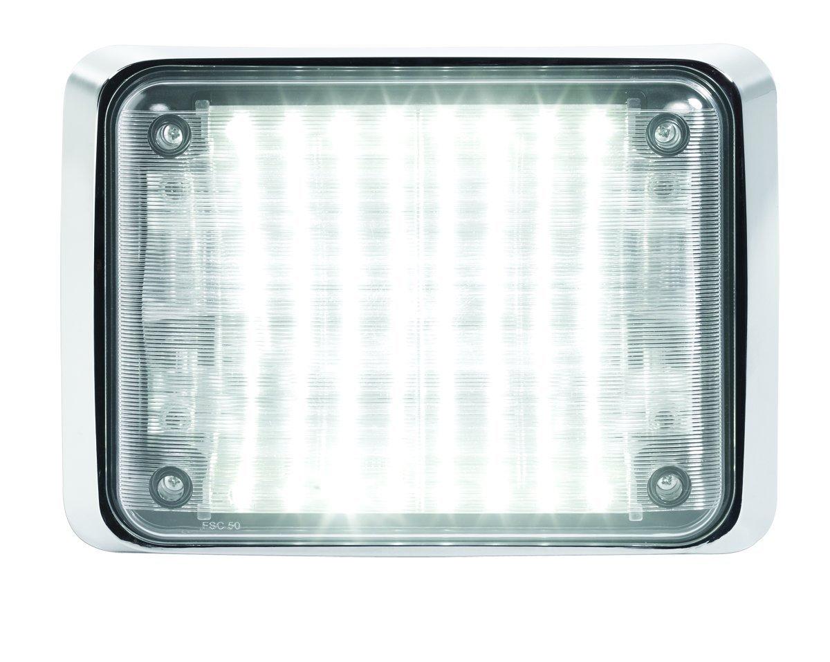 Federal Signal QL97LEDSCENE LED Scene Light, 9'' x 7'', Chrome