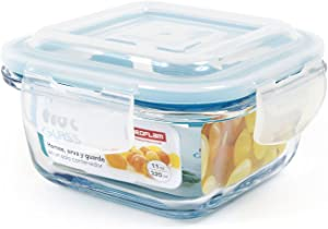 Neoflam CLOC Glass Food Storage Container w/ Airtight Lid, Clear, 11 oz