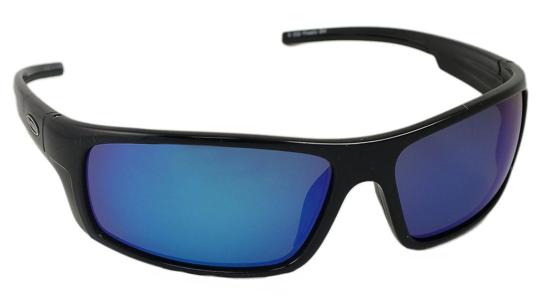 Black Frame Sea Striker Finatic Polarized Sunglasses 232 Blue Mirror Lens Cliff Weil Inc