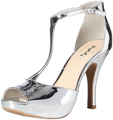 c07061b18b2 Qupid Women s Platform Sandal Heeled