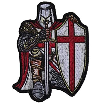 d9e69f5c464 Image Unavailable. Image not available for. Color  Crusader Knight Patch  Small - 3.3x4.5 inch. Embroidered Iron on Patch
