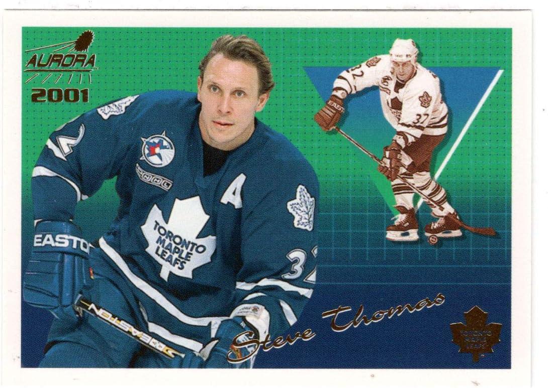 Toronto Maple Leafs Hockey Card 2000-01 Pacific Aurora # 141 Mint Steve Thomas