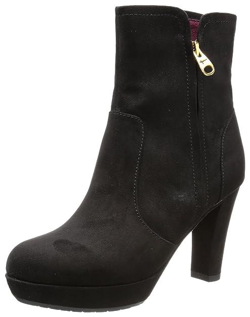Tamaris TAMARIS - Botines de terciopelo mujer, color negro, talla 42: Amazon.es: Zapatos y complementos