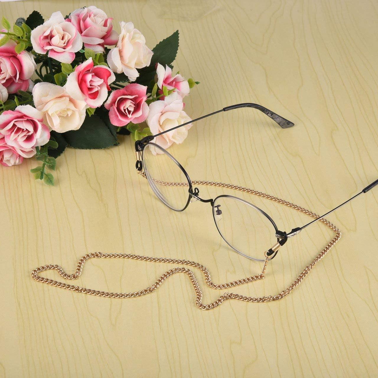 ITjasnyfall Dorato Occhiali delicati alla Moda Occhiali Collana a Catena Corda per Occhiali Supporto per Tracolla Cordino per Collo Regali per Amici
