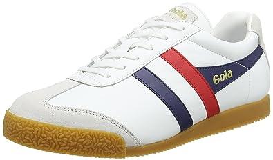 Gola Herren Harrier Leather Sneaker, Schwarz(Black White