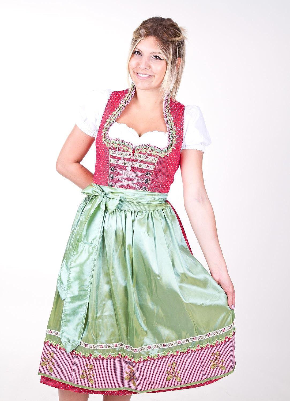 Krüger Dirndl Sunrose rot-grün