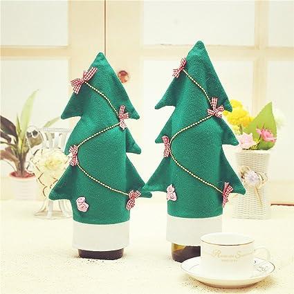 Glary 2 x Navidad Botella - Bolsa Botella de Vino para Vino de Botellas de champán Navidad Árbol de Navidad de diseño: Amazon.es: Juguetes y juegos