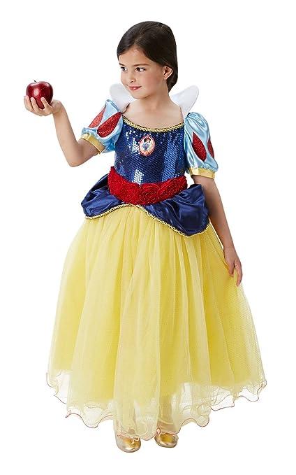 Princesas Disney - Disfraz de Blancanieves Premium para niña, infantil 3-4 años (Rubies 620482-S)