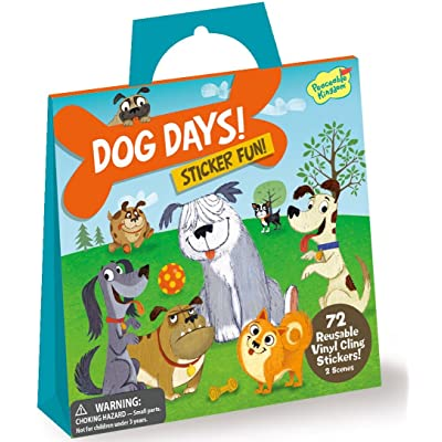 Peaceable Kingdom Sticker Fun Dog Days Reusable Sticker Tote: Toys & Games