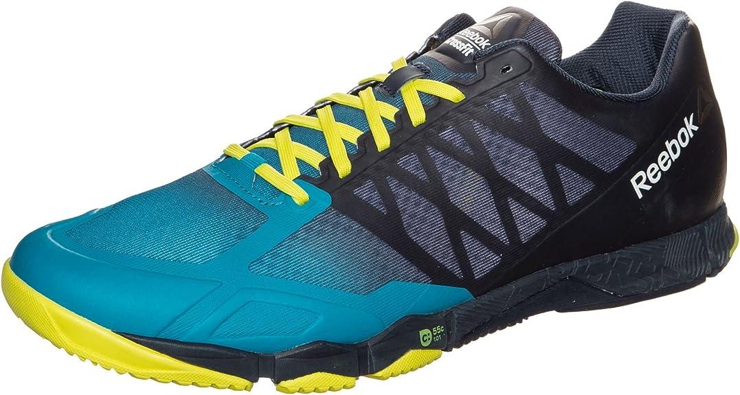 Reebok CrossFit Speed TR - Zapatillas de entrenamiento para hombre, azul / amarillo: Amazon.es: Zapatos y complementos