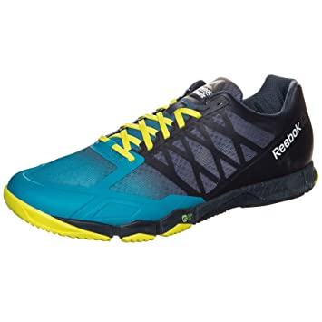 89100c27fbc0f Reebok Crossfit Speed Training Shoes Mens Blue Yel Gym Fitness Trainers  Sneaker  Amazon.es  Deportes y aire libre