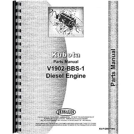 Amazon Com Kubota Kubota Engine V1902 Bbs 1 Parts Manual Office