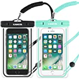 Amazon Price History for:Waterproof Case, 2 PACK Glow in the Dark IPX8 Universal Waterproof Phone Pouch Cases Dry Bag with Military Lanyard for iPhone Samsung Google Pixel HTC LG Huawei (Blue Black)