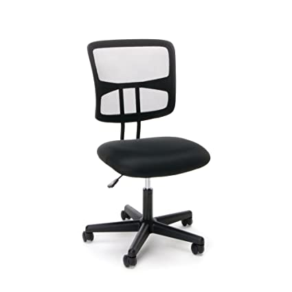 Essentials Swivel Armless Mid Back Mesh Task Chair