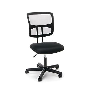 Elegant Essentials Swivel Armless Mid Back Mesh Task Chair   Ergonomic Computer/Office  Chair (ESS