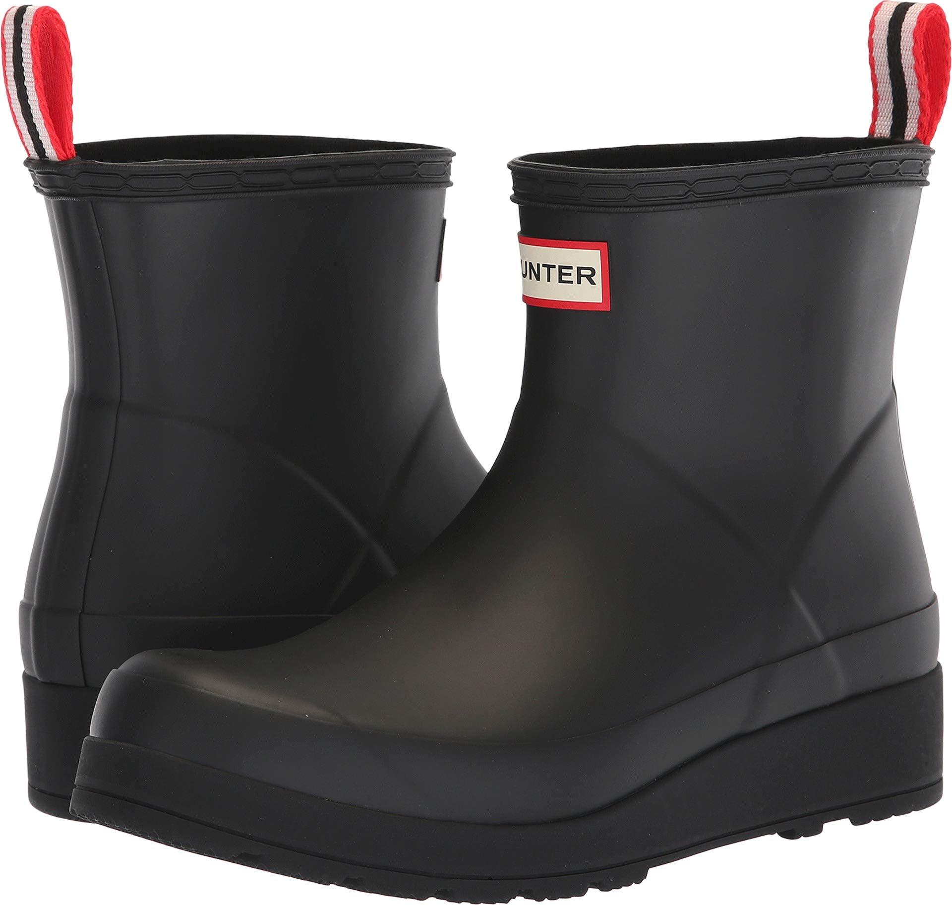 Hunter Women's Original Play Boot Short Rain Boots Black 8 M US by Hunter