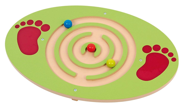 Balance Board aus Holz mit Labyrint Motorik Balancier Fußbrett Mentari MT-3435