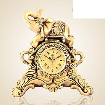 Reloj europeo Ornamentos del salón de la moda relojes decorativos creativos reloj antiguo en el dormitorio reloj Reloj-C: Amazon.es: Hogar