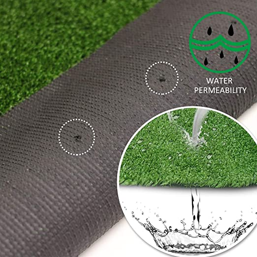 Amazon Com Petgrow 4 Ft X 13 Ft Synthetic Artificial Grass Turf For Garden Backyard Patio Balcony Drainage Holes Rubber Backing Indoor Outdoor Faux Grass Astro Rug Diy Decorations For Fence Backdrop