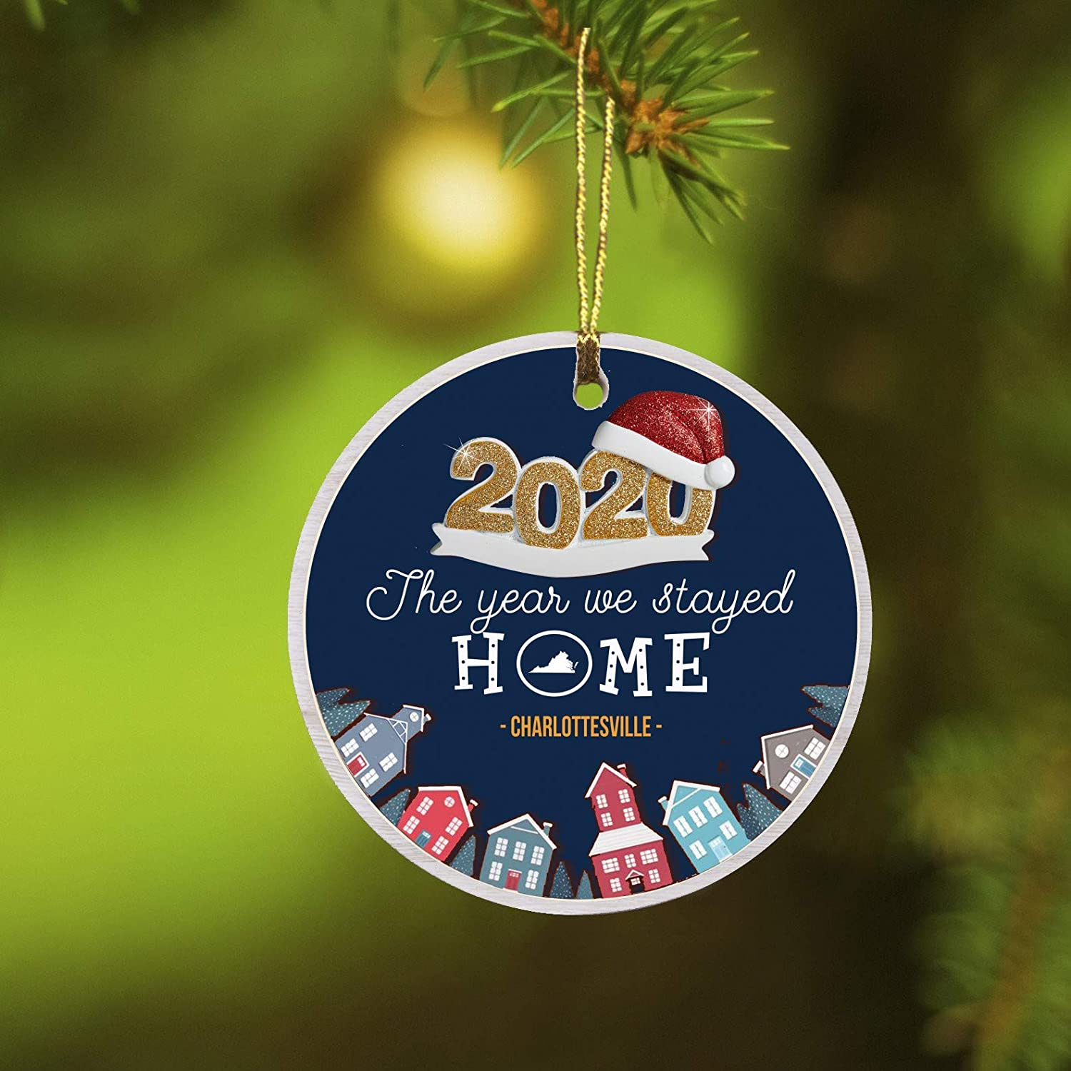 Christmas Free Meal 2021 Charlottesville Amazon Com Christmas Ornament 2020 Charlottesville Virginia State Rustic Ornaments Tree Funny Quarantine Gift For Friends Family Ornament Remember This Year Decorations Xmas Gifts 3 Kitchen Dining
