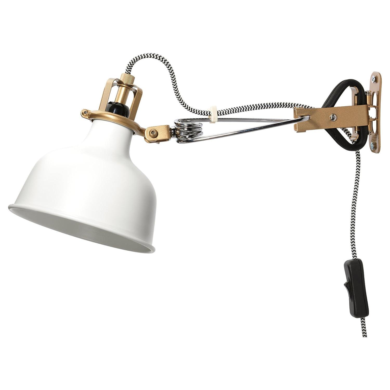 Ikea Wall Lamp Clamp Spotlight Off-white Ranarp - - Amazon.com