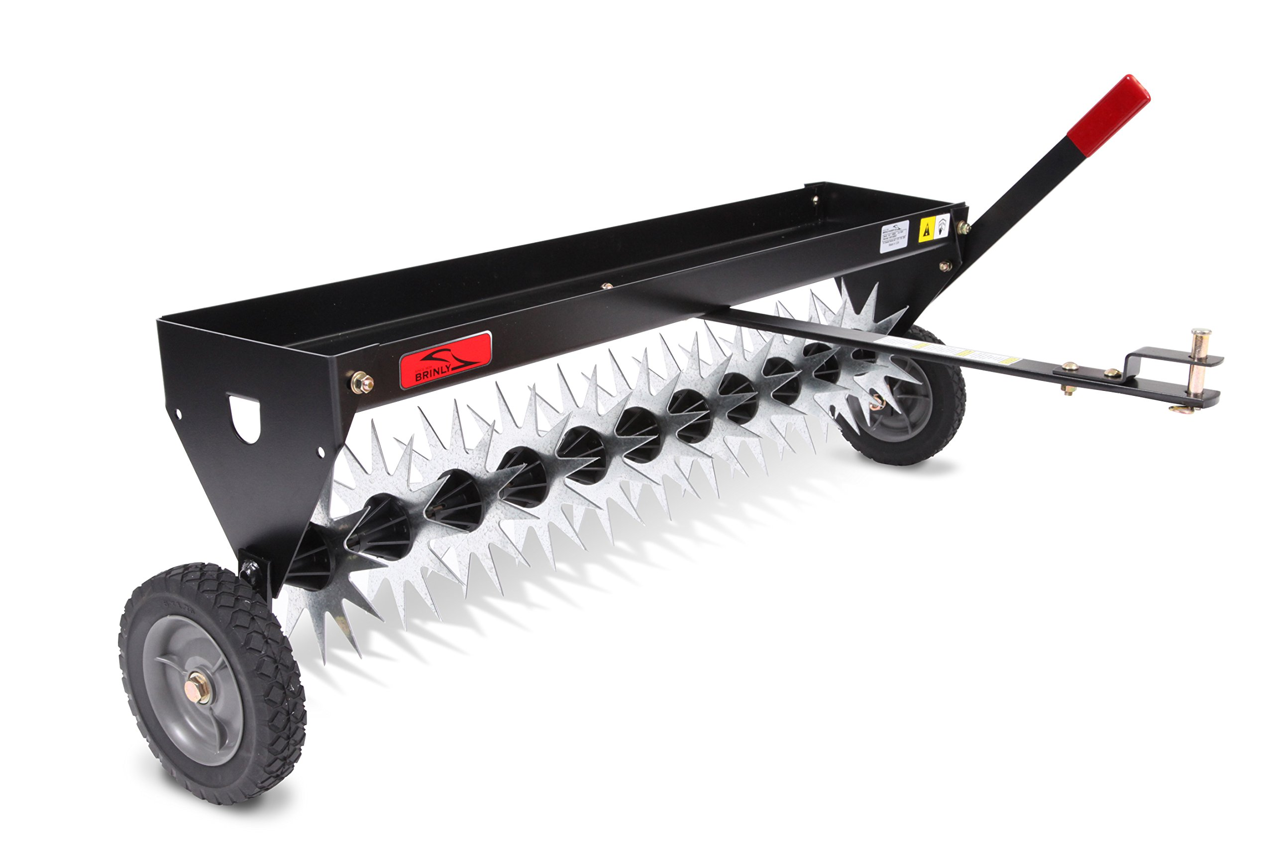 Brinly SAT-40BH Tow Behind Spike Aerator with Transport Wheels, 40-Inch by Brinly