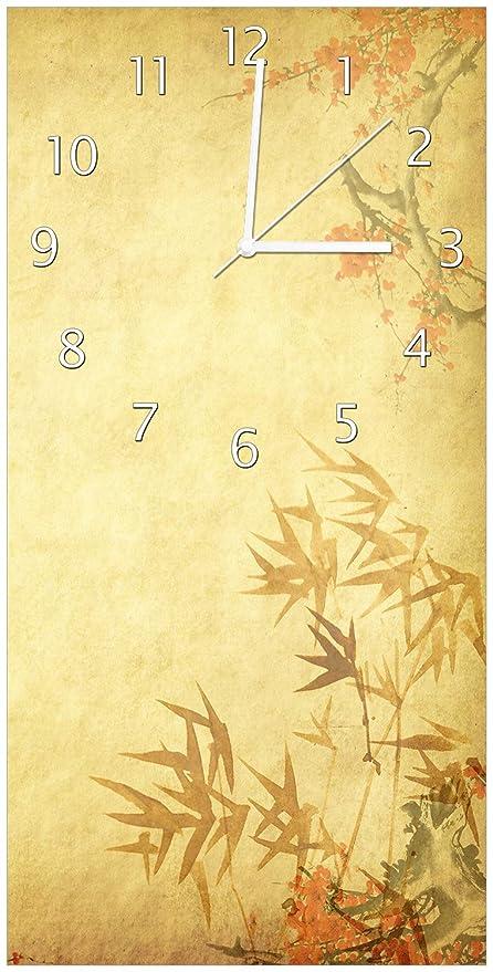 Wallario Design Wanduhr Herbststimmung U2013 Alter Papyrus Mit Herbstmotiven  Aus Acrylglas, Größe 30 X 60