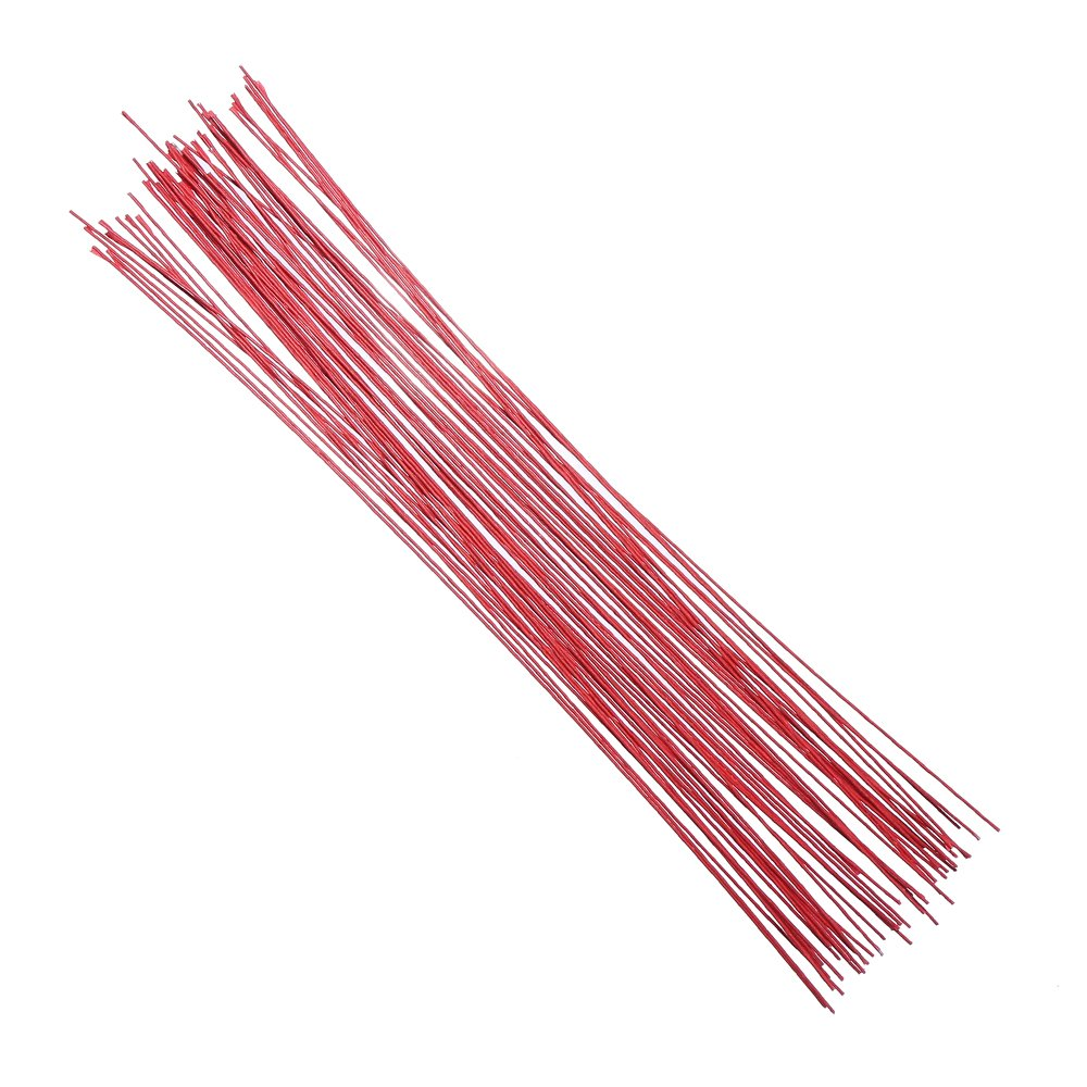 DECORA 18 Gauge Red Floral Wire for Stem and Flower Making and 16 inch,50/Package