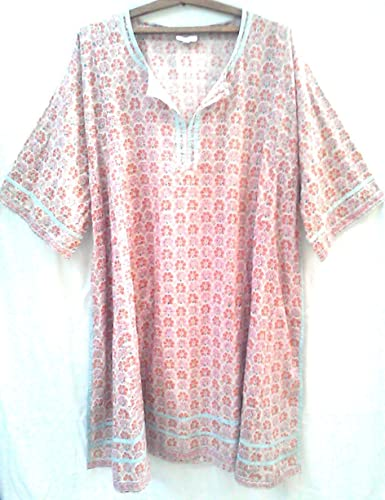 Block Print Floral Cotton Tunic New from India