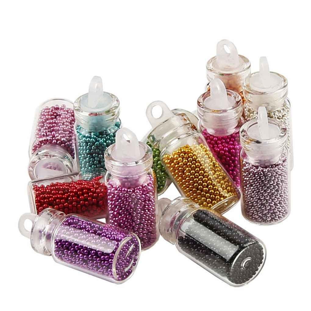 Fangfeen DIY manicura de la decoración Ultravioleta del Gel de Herramientas Accesorios 12 Colores 3D Mini Granos de Caviar uñas de los Brillos de Arte (Color al Azar)
