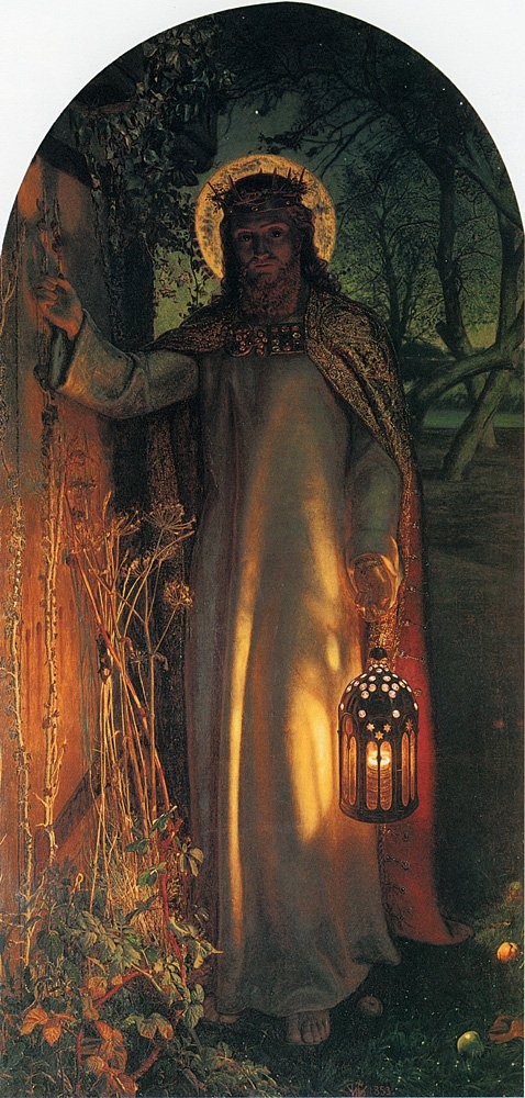 Hunt William Holman The Light of the World 100% Hand Painted Replica Oil Paintings 12X16 Inch by B-Arts