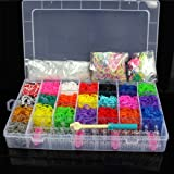 5,600 Colourful Rubber Loom Bands - DIY Making Kit - Art and Craft - Storage Box!
