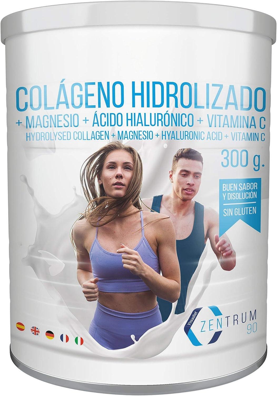 Colágeno Con Magnesio – Vitamina C – Ácido Hialurónico - Colágeno hidrolizado en polvo con magnesio Para la Salud de Tus huesos y articulaciones – 300 gramos: Amazon.es: Salud y cuidado personal